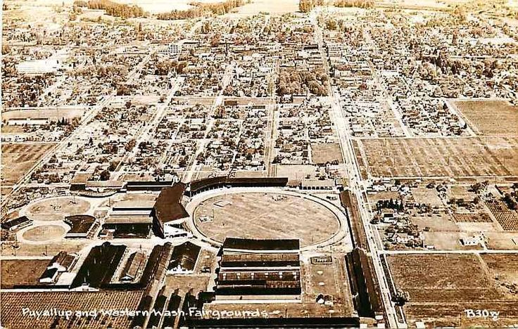 Puyallup Washington WA 1950s Aerial Real Photo Vintage Postcard Fairgrounds | eBay