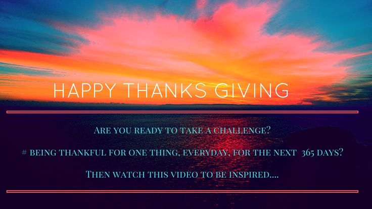 Are You Ready To Take A Challenge Of Being Thankful For The Next 365 Days. Then Take One Photo Every Day Of One Thing You Are Thankful For!     https://youtube.com/watch?v=zaufonUBjoQ