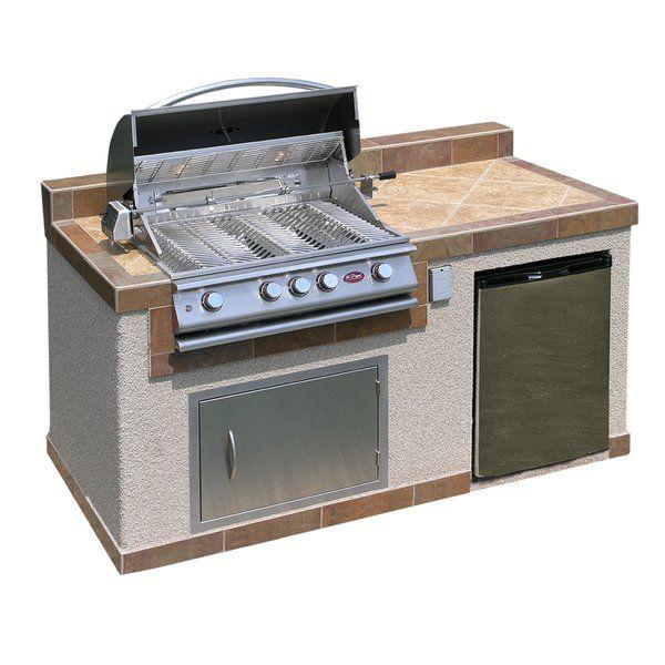 73 4 Burner Liquid Propane Bbq Island Outdoor Kitchen Design Outdoor Kitchen Outdoor Kitchen Island