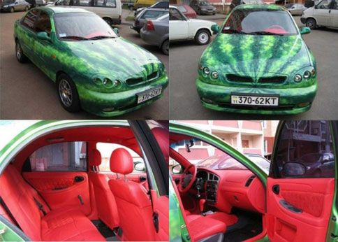 Watermelon Car. Coolest thing ever!