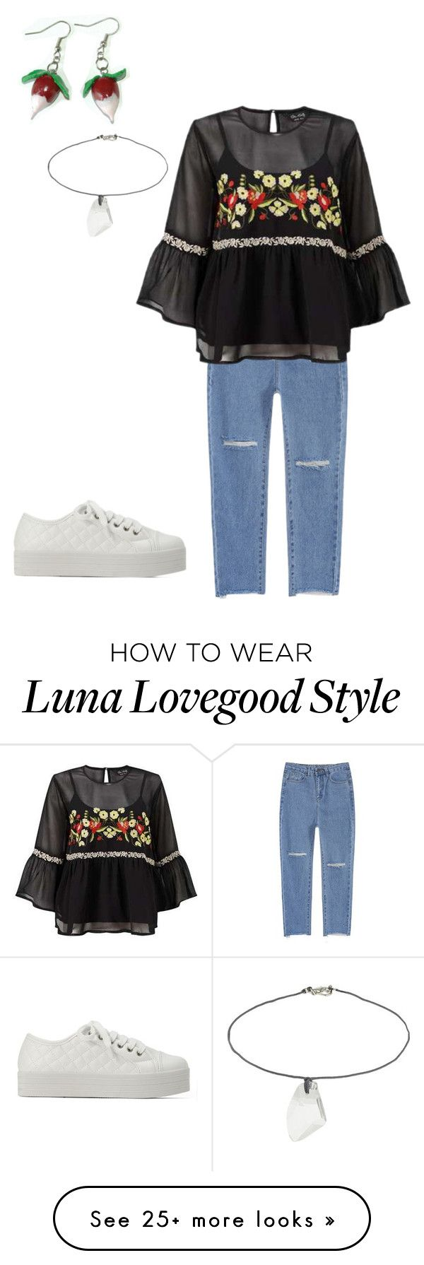 """modern day luna lovegood inspired look"" by jennikat on Polyvore featuring Luna, Miss Selfridge, Topshop and modern"
