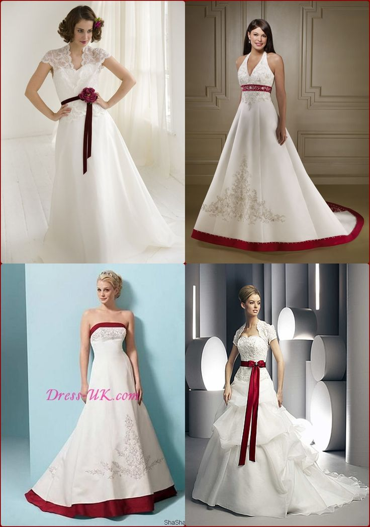 fall wedding dresses for bride white and red | Autumn wedding dresses ideas | Budget Brides Guide : A Wedding Blog