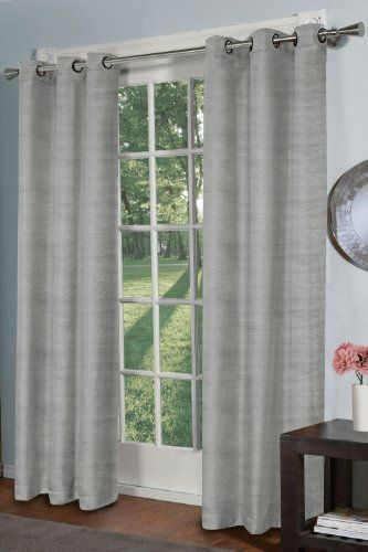 Design Décor Raw Silk Curtain Panel, Dove Grey By Design. $40.62. Sold In