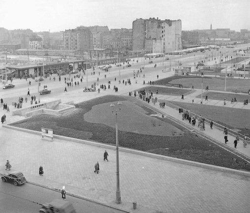1956 r. Al. Jerozolimskie / E. Plater. Foto: T. Rolke