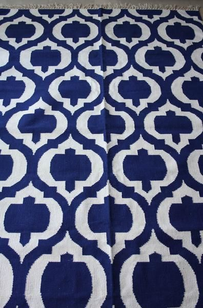 Beautiful inky blue handwoven rug...Use code AUSDAY17 to get 25% off storewide