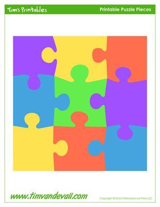 Puzzle Piece Stickers Printable