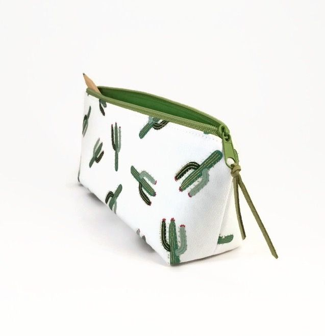 Pencil case, Pencil pouch, Zipper pouch, Cactus, Back to school, Pencil bag