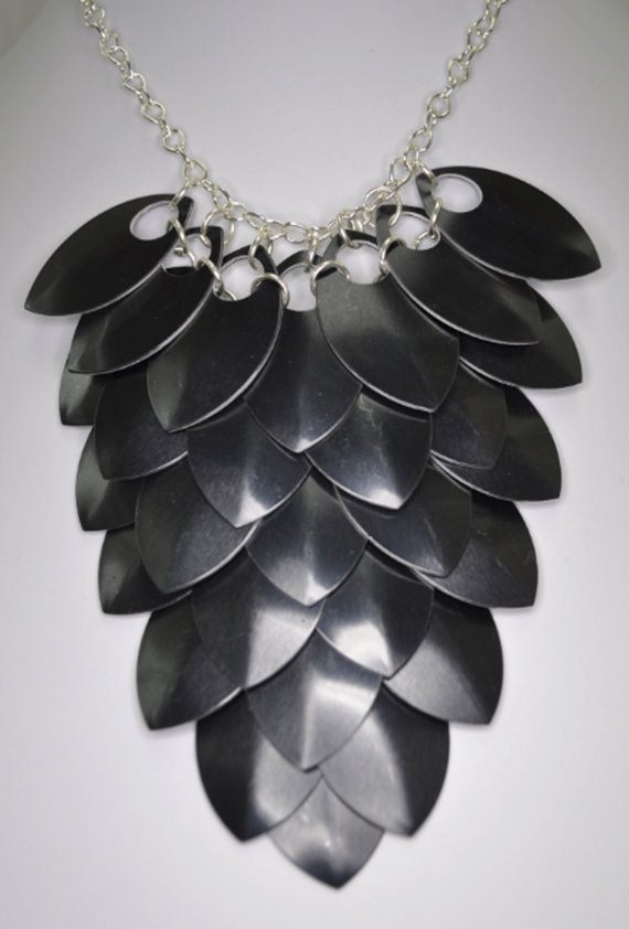 Scale Maille Bib Bridesmaid Wedding Jewellery by BeadsofCreation