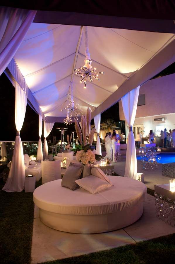 White Lounge and Drapery   Furniture and Drapery by www.revelryeventdesigners.com     ! levinefoxevents.com  Events    Pinned by RaycePR.com