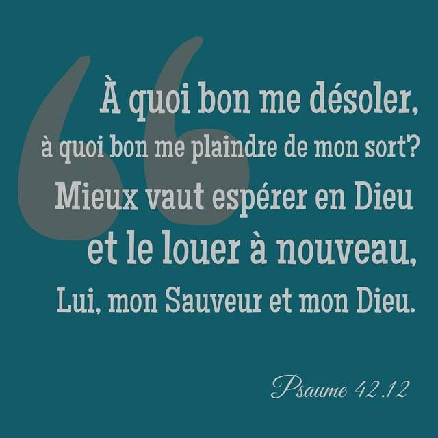 ~ Psaumes 42.12 ~                                                       …