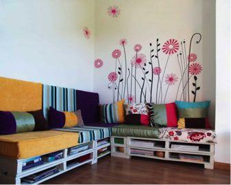ideas de decoracin para sofas hechos con pallets sofapallet pallet palet