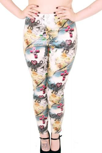 BE MINE PRINT PVC LEGGINGS MADE FROM OUR NEW BE MINE RETRO PVC PRINT. S-XL £35.00