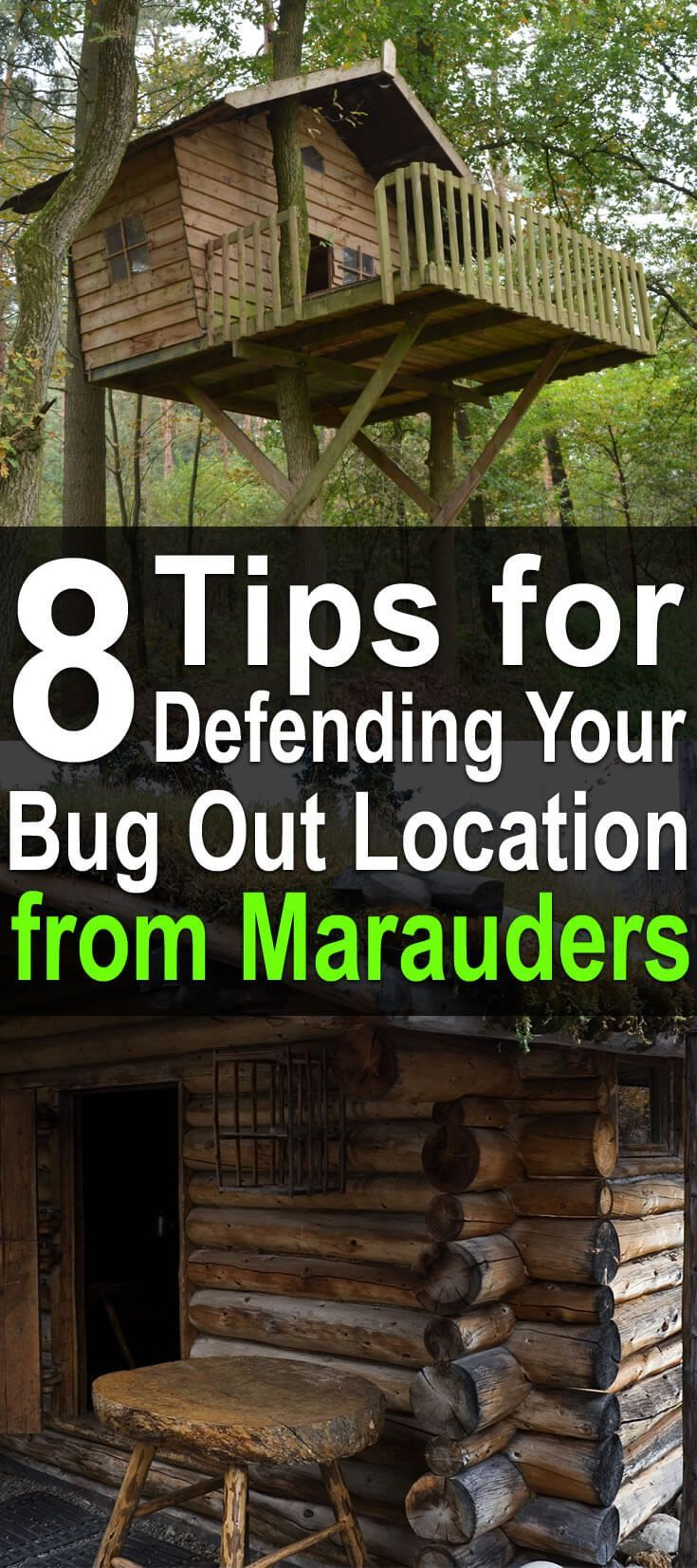 8 Tips for Defending Your Bug Out Location from Marauders. If you do have a bug out location (or are searching for one), you need to make sure you can defend it. Here are the top factors you need to take into consideration when it comes to defending a bug out location. | Posted by: SurvivalofthePrepped.com