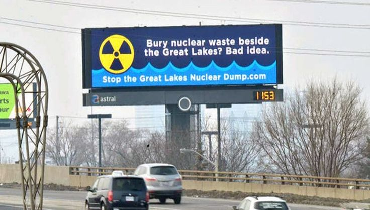 The Great Lakes and a High-Level Radioactive Nuke Waste Dump Don't Mix http://ecowatch.com/2016/01/28/great-lakes-nuclear-waste-dump/