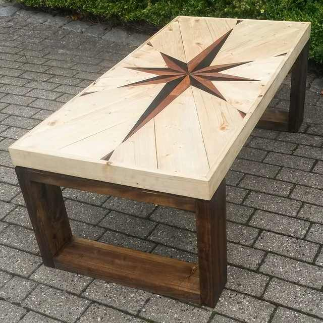 A Table I Made With A Star Thing Woodworking Ideas Table