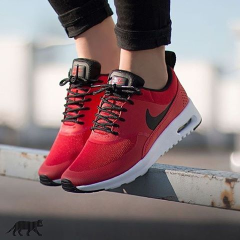 Nike Air Max Thea x University Red/Black  Cop or Drop?  #AirMaxKicks
