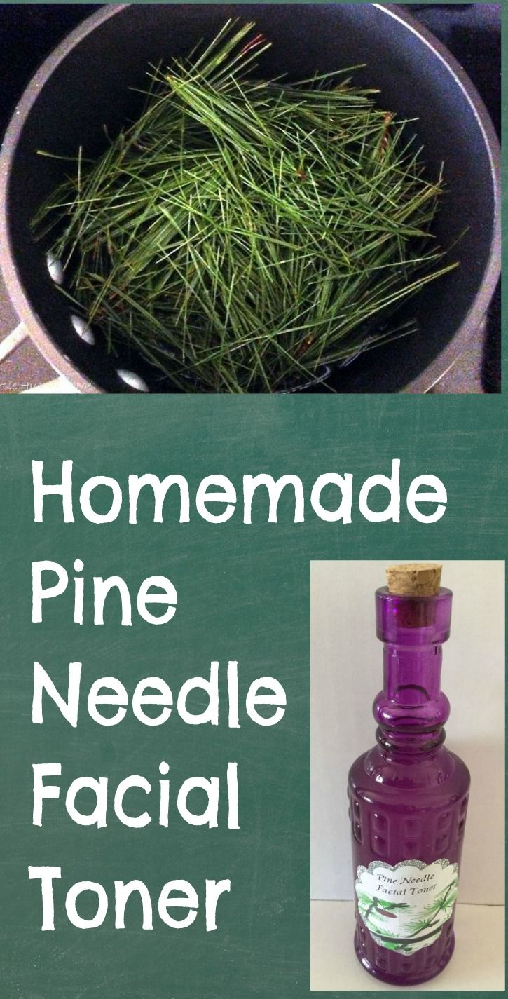 Homemade Pine Needle Facial Toner