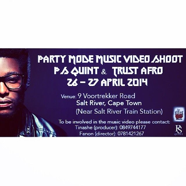 Party Mode music video shoot information.