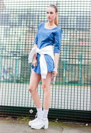 Flirty Denim Skater Dress £55