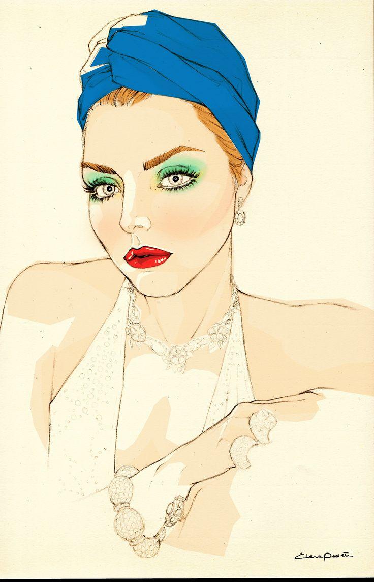 fashion illustration / Elena Paoletti / Vogue Beauty, luglio , 2013.