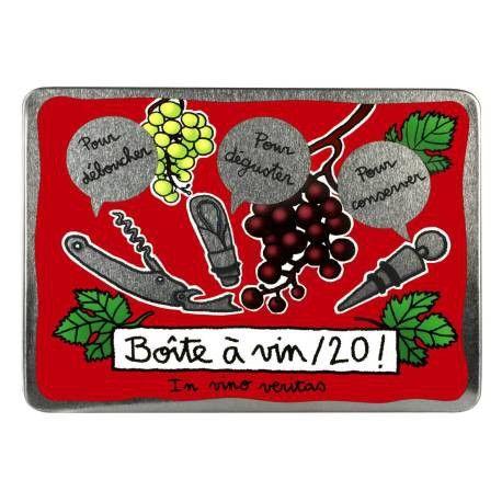 Boite à Vin (garnie) Vin/20 - bordeaux