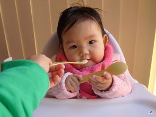 Thanks for sharing your experience on Mother's Corn spoons and bowl! She looks very happy :)