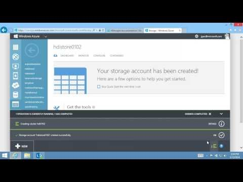 Provision Hadoop clusters in HDInsight using the Management portal - YouTube