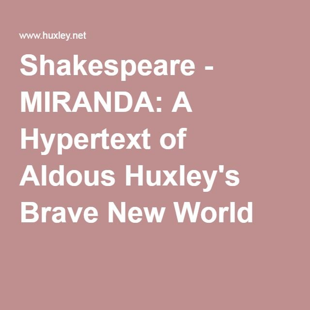 a society built on happiness in brave new world by aldous huxley Brave new world by aldous leonard huxley   18 de maio de 2002.