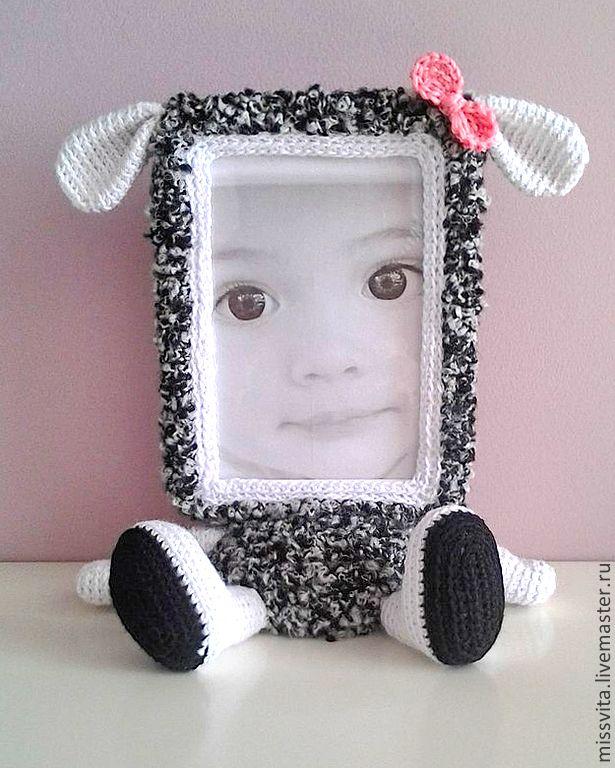 Купить Фоторамка Овечка - розовый, девочке, девушке, милый подарок, милая игрушка, фоторамка
