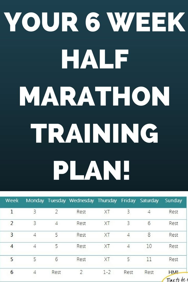 Challenge yourself with this 6 week half marathon plan! In just 6 weeks you can be crossing that finish line!  #allaboutmarathontraining #halfmarathon #running #trainingplan
