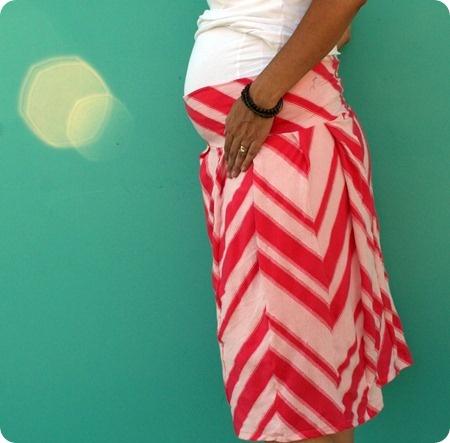 Pregnant panels DIY skirt.