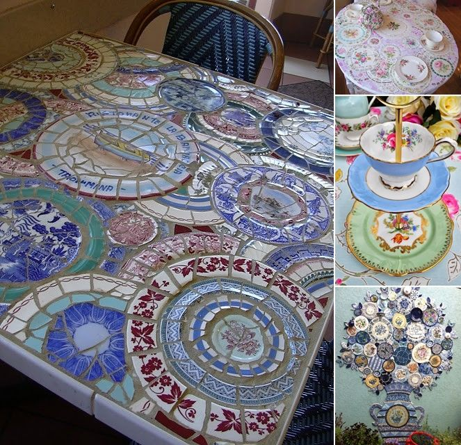 5 Awesome Ideas to Recycle Old China Plates for Home Decor  - http://www.amazinginteriordesign.com/5-awesome-ideas-recycle-old-china-plates-home-decor/