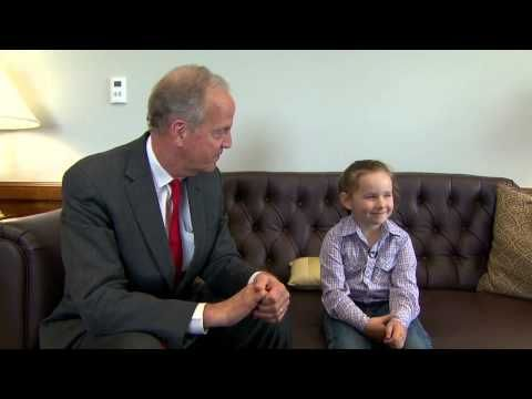 Macey Hensley & Family meet Sen. Jerry Moran in D.C.