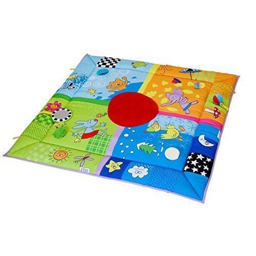 4 Seasons Activity Mat with Baby Safe Mirror, Ring Rattle Teether Toys Ball Set #SD4U