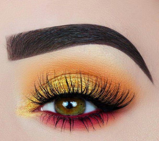 55 Die meisten sexy und auffälligen orange Make-up-Tipps für Abschlussball und Wochenendparty