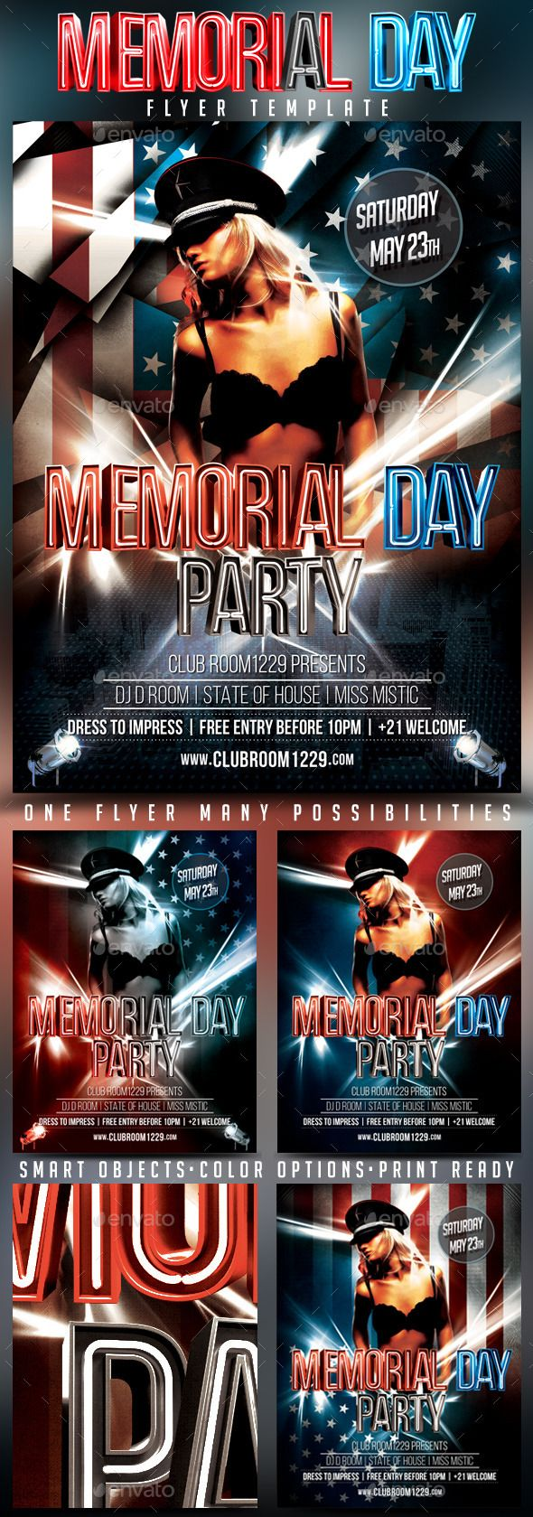Memorial Day Flyer Template  Flyer Template