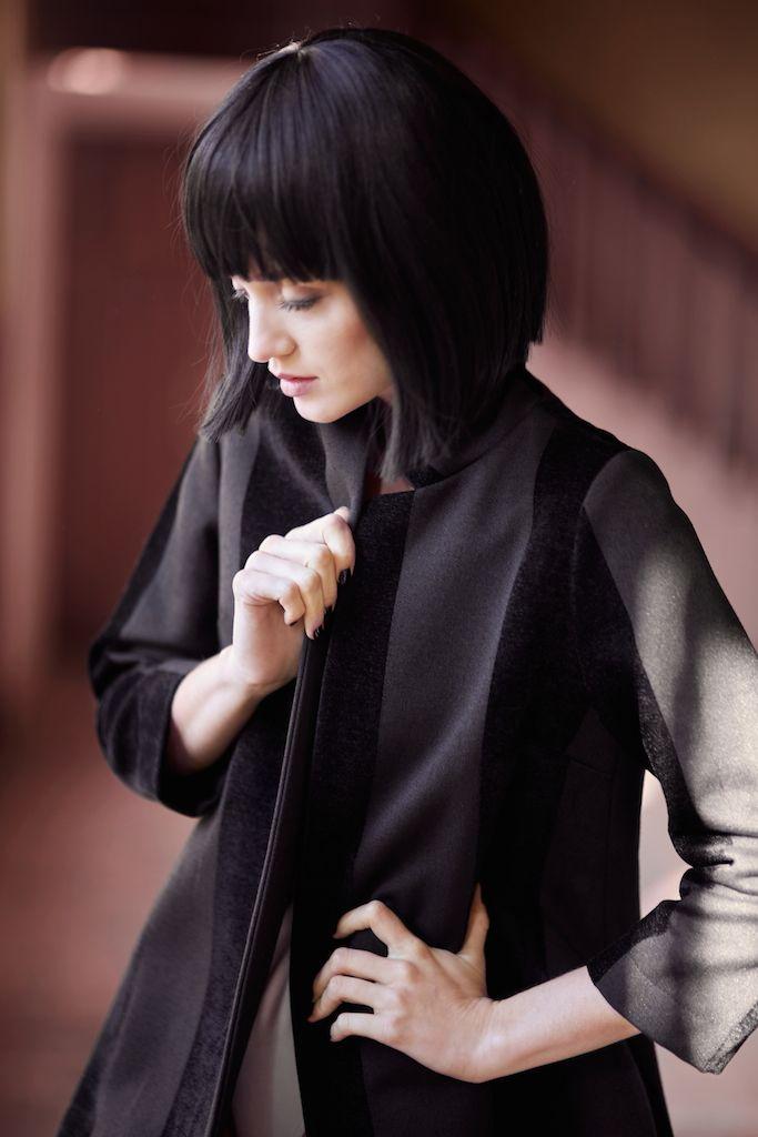 Kornelia in Farrah coat from Sylwia Majdan