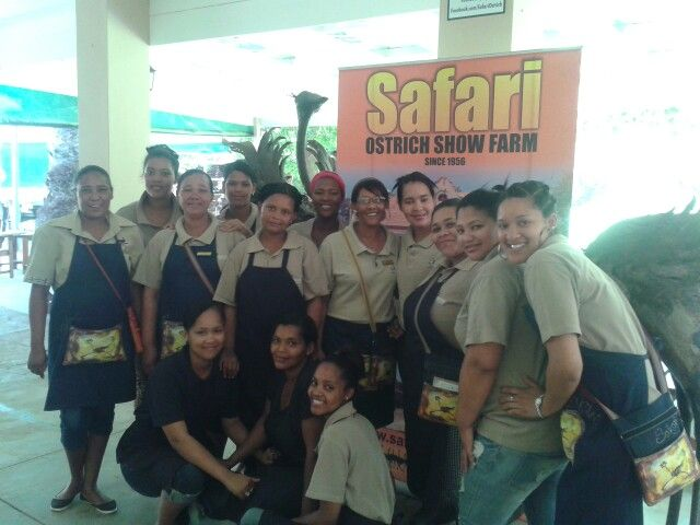 #safarirestaurant staff greeting guests with a smile even at 42 degrees celsius.