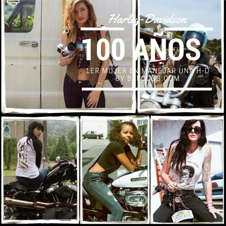 100 años de la 1er mujer en manejar una Harley-Davidson checa la galería:
