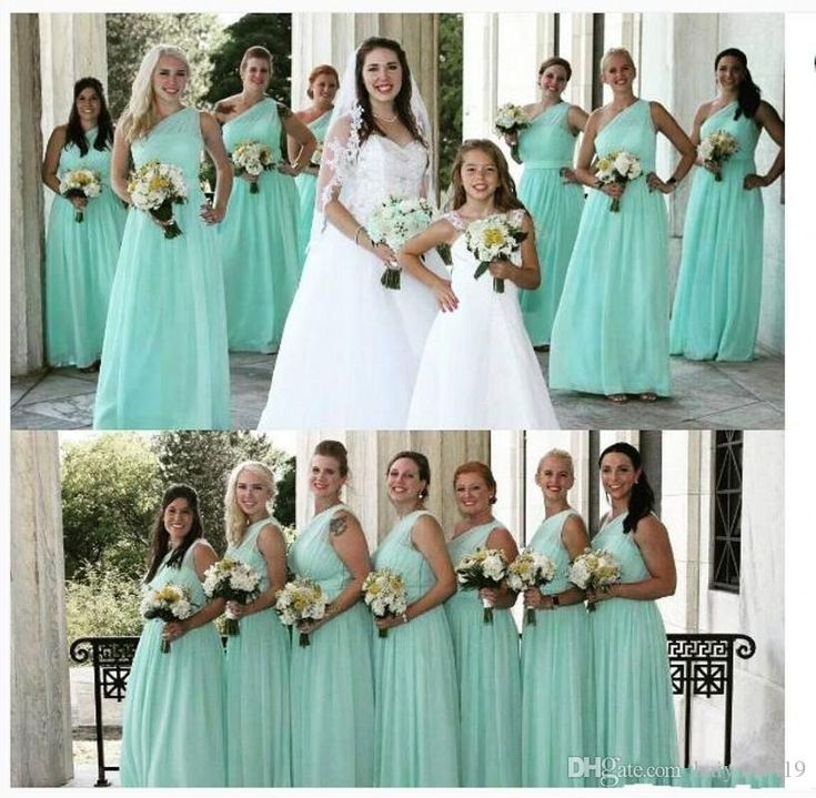Mint turquoise 2017 new cheap bridesmaid dresses sexy one for Turquoise bridesmaid dresses for beach wedding
