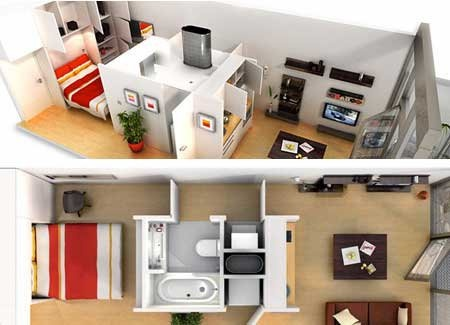 The abito pod maximizing your confined living space the - Maximize space in small bathroom ...