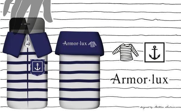 Armor Lux Mobile phone sleeve case on Behance  socks / portable / pochette