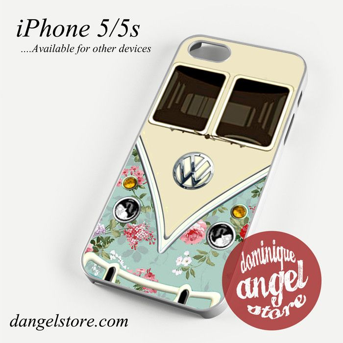 modern floral vw retro bus Phone case for iPhone 4/4s/5/5c/5s/6/6 plus