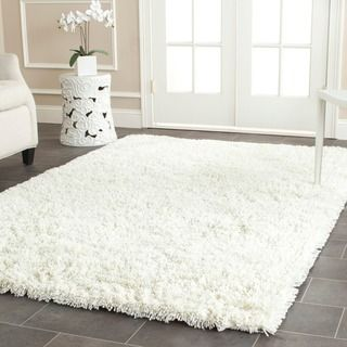 Safavieh Cozy Solid Ivory Shag Rug (5'3 x 7'6) - Overstock™ Shopping - Great Deals on Safavieh 5x8 - 6x9 Rugs