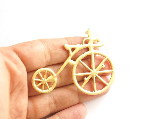 1pc Gold plated old fashion bicycle pendant 68x50mm by 1dream, $4.00