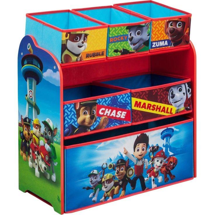 Organisateur de jouets à bacs multiples pour enfants PAW Patrol de Delta Children, bleu  – Products