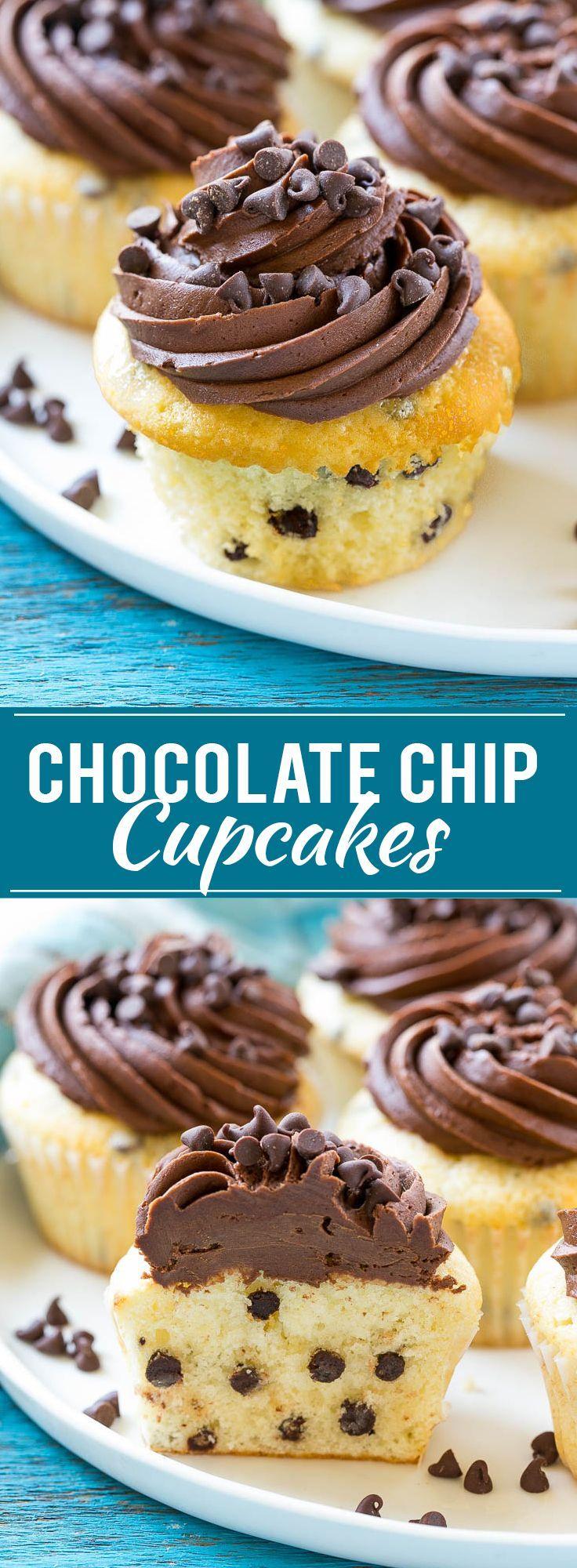 Chocolate Chip Cupcakes Recipe   Cupcake Recipe   Chocolate Chips   Chocolate Frosting   Easy Cupcake Recipe