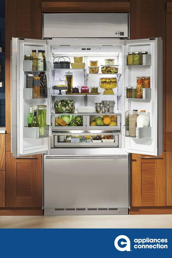 Ths 36 Ge Monogram European Designed Built In French Door Refrigerator Offers A Total Capacity Of 20 76 In 2020 Cool Kitchens Home Appliances French Door Refrigerator