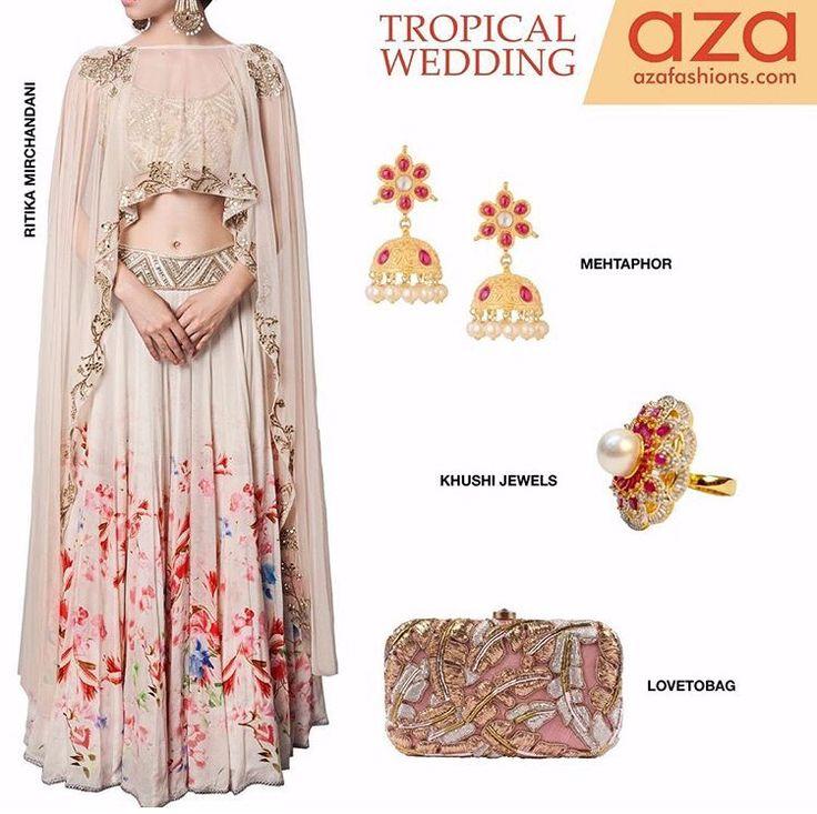 Azaa fashion# 2016# summer special + cape love # lehenga love