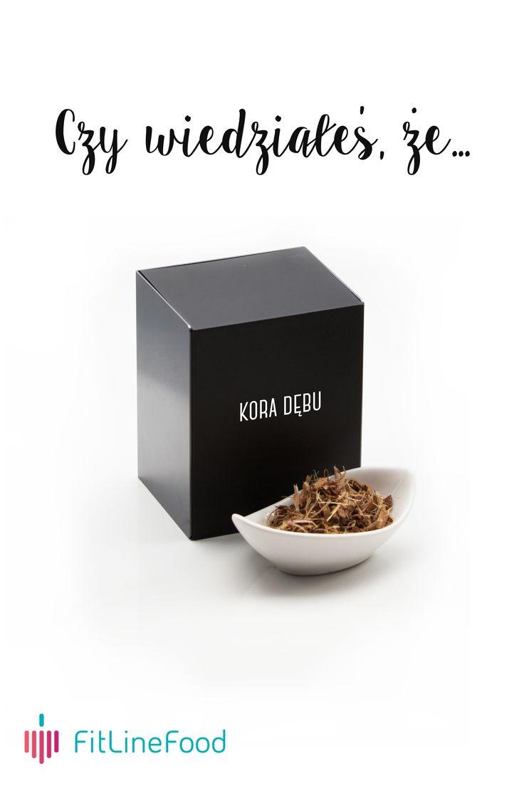 Czy wiedziałeś, że kora dębu wspomaga pielęgnację cery. / Did you know, that oaks bark helps with skincare. www.fitlinefood.com